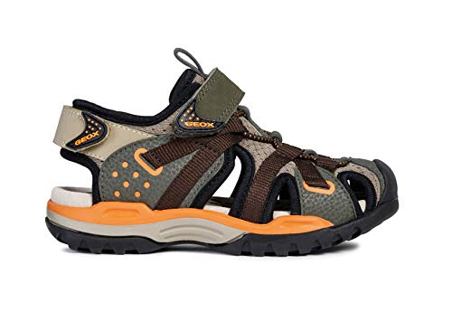 Geox Borealis Boys Sandals/Little Kids/Youth, Military, 9