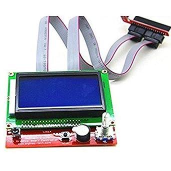 AiCheaX 12864 Ramps Smart Parts RAMPS 1.4 - Pantalla azul para ...