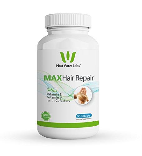 Next Wave Labs Max Hair Repair, Biotin + Vitamin A, Vitamin E, Niacin, and Selenium for Hair Nourishment, Hair Strength 90 Servings (Best Vitamins For Strong Hair)