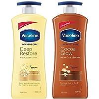 Vaseline Intensive Care Deep Restore Body Lotion, 400 ml & Vaseline Intensive Care Cocoa Glow Body Lotion, 400 ml