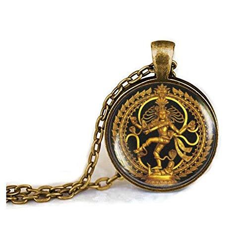 Dancing Shiva necklace, Nataraja necklace, Statue of Dancing Shiva pendant, cosmic dancer, Shiva Nataraja, Buddhist Spiritual Jewelry