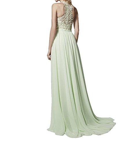 Braut Festlichkleider Chiffon A Linie Steine Tanzenkleider Partykleider Abendkleider La Neu Ballkleider mia 2018 Gelb CqwHngx5z