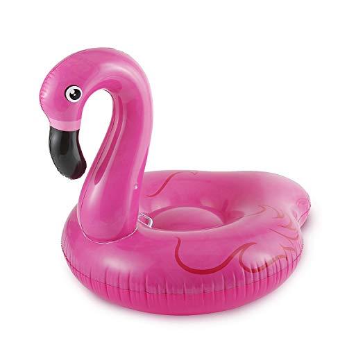 - Summer Waves Jumbo Inflatable Pink Flamingo Ride-On Swimming Pool Float Raft