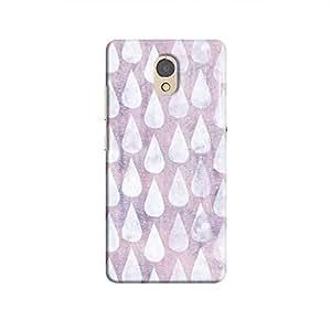 Cover It Up - Raindrops Print Purple P2 Hard Case