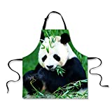 Apron,Funny Design Grill Waist Cloth for Men Women Grilling Gifts Panda Print