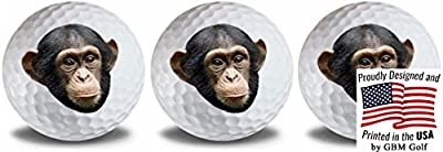 GBM Golf Wild Animal Chimp Golf Balls 3 Pack