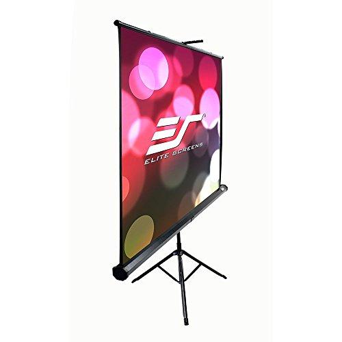 Elite Portable Tripod (Elite Screens Tripod B, 85-inch, Multi Aspect Ratio Lightweight Portable Projection Manual Pull Up Projector Screen, T85SB)