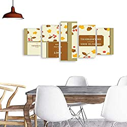 UHOO Modern Paintingsthanksgiving Greeting Card Template and Seamless Pattern for Fall season1. Home Furnishing Decorative Background Wall Mural Painting
