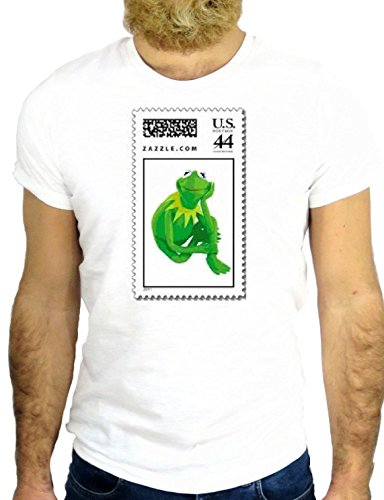 T SHIRT Z0101 KERMIT FROG COOL FUN CARTOON MUPPET NICE COOL VINTAGE GGG24 BIANCA - WHITE M