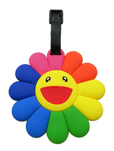 Tapp C. Travel Luggage Name Tag - Happy Face Flower - Flower Luggage Tag