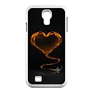Samsung Galaxy S4 Cases Yellow Heart and Tea Unique for Guys, Samsung Galaxy S4 Cases for Women Unique for Guys [White]