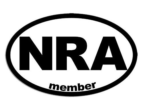 Oval NRA Member Sticker (National Rifle Association gun)- Sticker Graphic - Auto, Wall, Laptop, ()