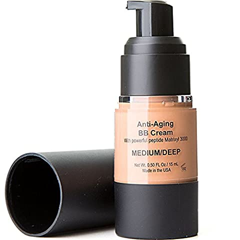 BB Cream Foundation Primer Beautifier All In One That's Perfect for Dry, Sensitive, Normal, Problem Skin Cover, Lightweight with Anti-aging Peptides to Help you Reach to Perfection - Medium (Beauty Renew Illuminating)