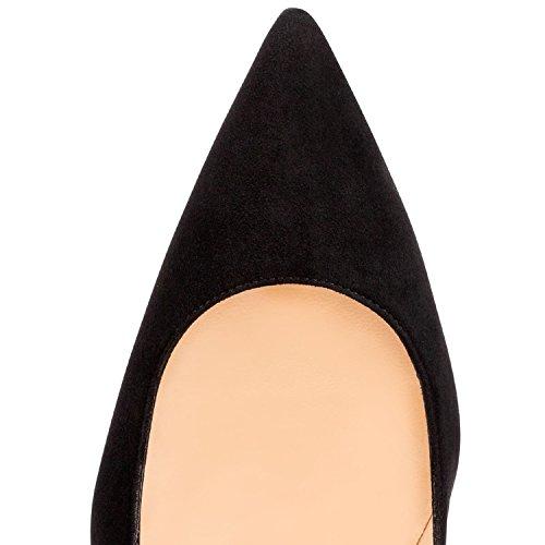 Chaussures Talon Stiletto Edefs Blacksuede Sexy Fête Aiguille Escarpins Soir Femme wxwH8qCa