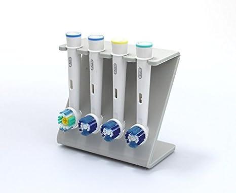 Soporte del cabezal de cepillo de dientes eléctrico, soporte para 4 cabezales de cepillo: Amazon.es: Hogar