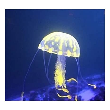 Romote brillantes efectos de medusa artificial para el tanque del acuario adorno de peces: Amazon.es: Hogar