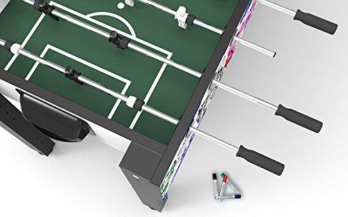 Ullrich Sport Basic Pro Tischkicker Tischfu/ßball Kicker-Tisch h/öhenverstellbarer Kickertisch