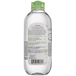 Garnier SkinActive Micellar Cleansing Water for Oily Skin, 13.5 fl. oz.