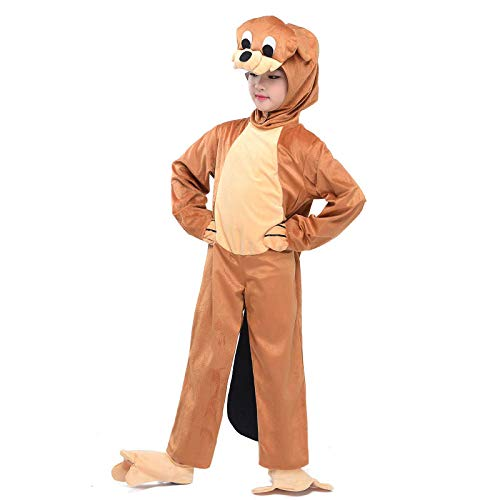 Beaver Costumes Kids Animals Pajamas Cosplay Child Fancy Dress Jumpsuit Outfit (Beaver, L)