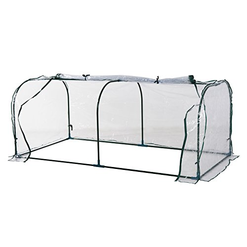 Outsunny Portable Backyard Flower Garden Greenhouse (7 x 3 x 2.6-Feet) - Flower Bed Tent