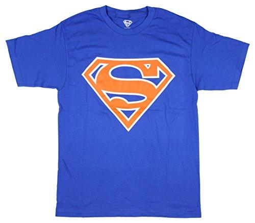 Superman - Mens Shield Logo T-Shirt (X-Large, Royal Blue)