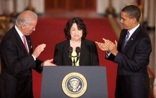 Photo President Barack Obama & Justice Sonia Sotomayor (Sotomayor Joe)