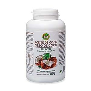 Perlas de aceite de coco con efecto saciante para controlar el peso – Suplemento nutricional que acelera el metabolismo y proporciona energía - Con triglicéridos de cadena media - 90 cápsulas