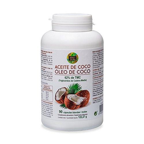 Kokosöl Kapseln 100% natürliche Nahrungsergänzung, 90 Kapseln aus Kokos Öl, mittelkettige Fettsäuren