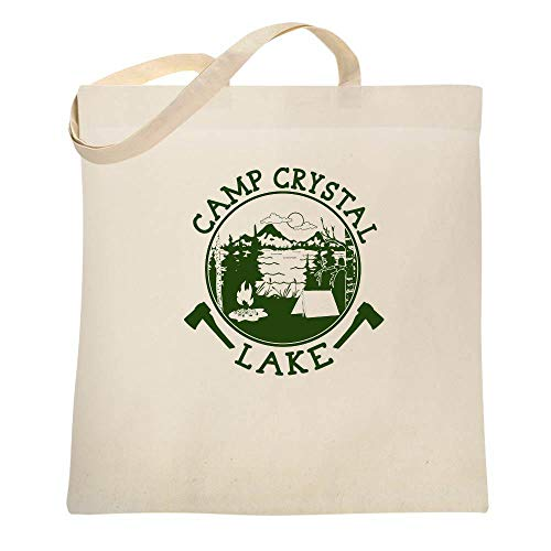 Camp Crystal Lake Counselor Shirt Costume Staff Natural 15x15 inches Canvas Tote Bag