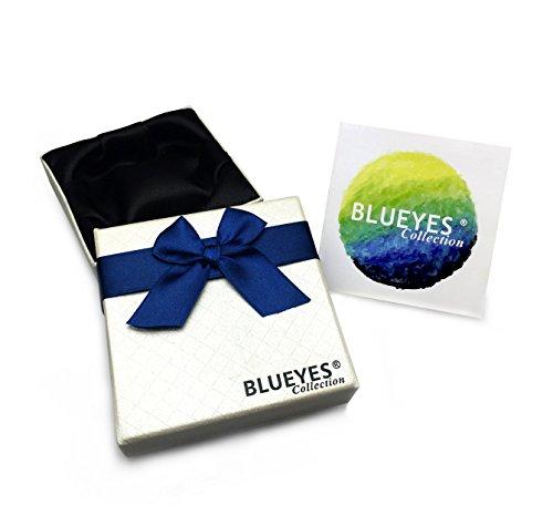 """Blueyes Collection """"Purple Star"""" Muilt Couleur Perles d'agate sur bracelet cuir Marron véritable, Enveloppements de 3"""