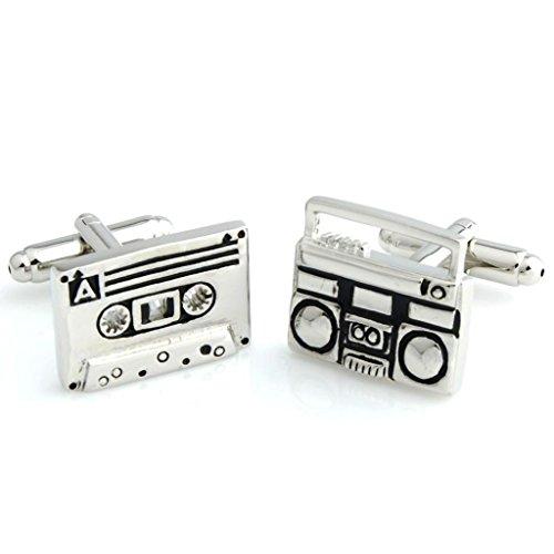 The Smart Man Men's Radio & Cassette Cufflinks