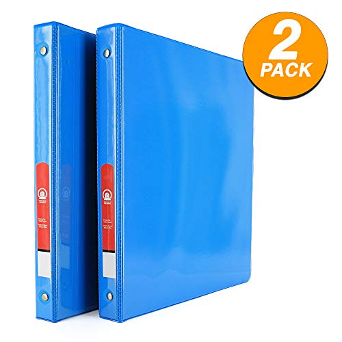 3-Ring View Binder with 2-Pockets - Available in Cyan - Great for School, Home, Office 1/2