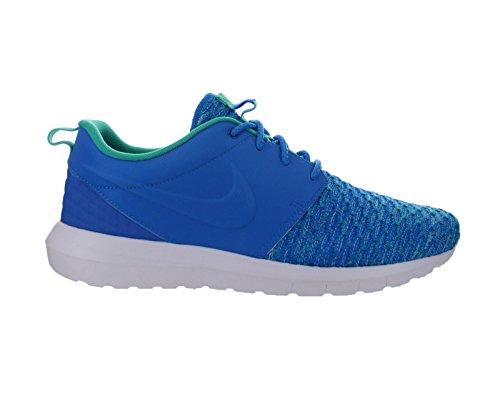 Mens Nike Roshe Nm Flyknit Premium Foto Blu Soar Atomico Verde Acqua 746825-400 Us 9.5