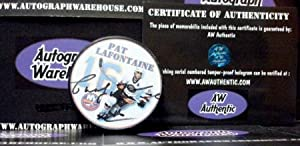 Autograph Warehouse 27478 Pat Lafontaine Autographed Hockey Puck New York Islanders Photo Puck