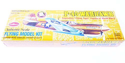 P-40 WARHAWK 501 Guillows Balsa Wood Model Flying Tiger WWII Fighter Plane Kit For Ages 14+ ()