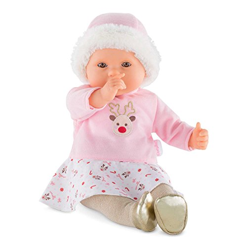 Corolle Mon Grand Poupon - My Large Baby Doll - Happy Reindeer, Pink (Baby Corolle)