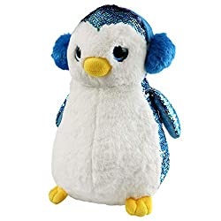 Flip Sequin Stuffed Penguin Toy