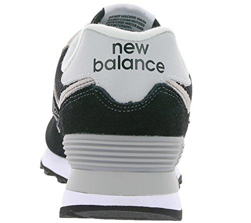 New Zapatillas B Piel Deportiva De Black White Balance Wl574 Mujer rOUwrt