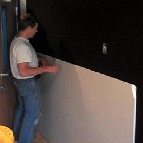 Stick On Soundproofing For Walls : Mutex ez stick soundproof material black sqft x