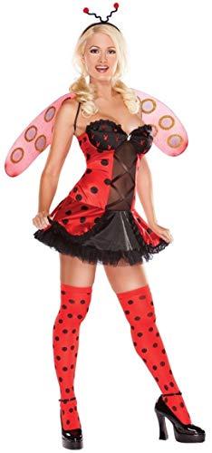 Fun World Playboy Ladybug Adult Costume Size 14-16 Large