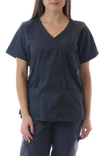 Hey Medical Uniforms Hey Women's Mock Wrap Baby Twill Scrub - Hey Uniforms