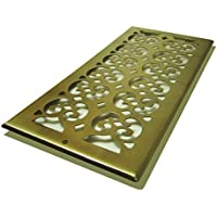 Decor Grates SP614R-A Scroll Plated, 6-Inch by 14-Inch, Antique Brass by Decor Grates