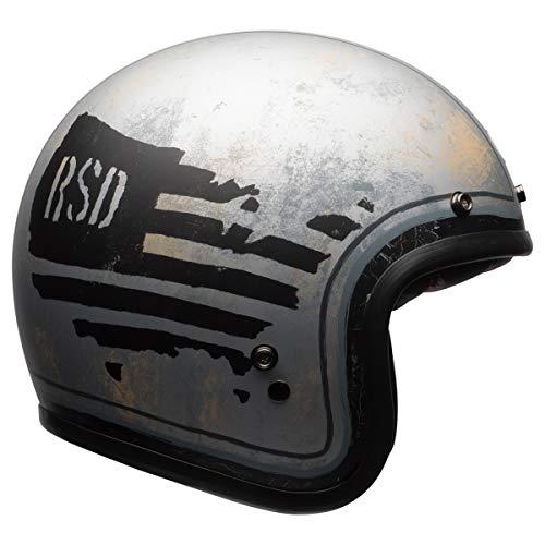 Bell Custom 500 Special Edition Open-Face Motorcycle Helmet (RSD 74 Matte Black/Silver, Medium) -