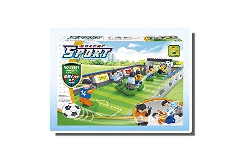Ausini Soccer Sport 25591 Football Building Bricks Educational Blocks Set Compatible Bricks, 261 Piece