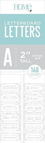(American Crafts Letterboard Letter Pack White | 148 Piece | 2-inch Letters, Numbers and Punctuation)
