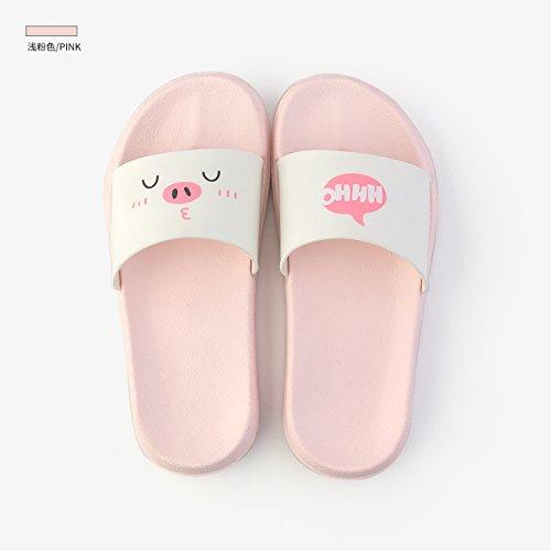da uomini 40 cartoon chiaro antiscivolo e bagno pantofole Indoor Coppie pantofole rosa pantofole femmina doccia bagno 39 estate grazioso fankou Vasca pq8Px