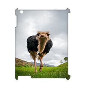 Custom New Case for Ipad 2,3,4 3D, The Ostrich Phone Case - HL-R679538