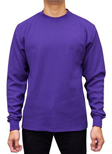 Access Men's Heavyweight Long Sleeve Thermal Crew Neck Top Purple - Thermal Purple