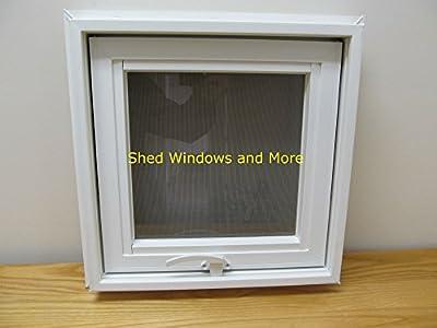 """Awning Windows Style 16"""" x 16"""" Vinyl PVC Windows Home Windows Tiny House Windows Playhouse Windows Shed Windows"""