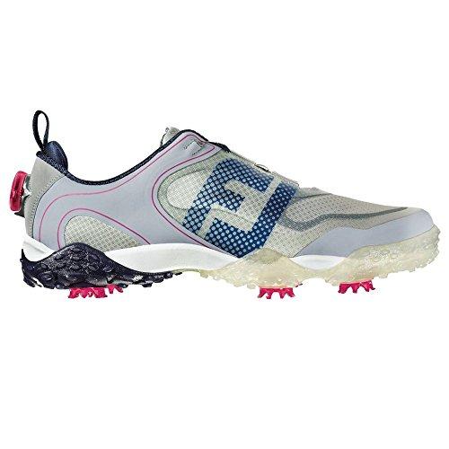 FootJoy BOA Freestyle Mens Golf Shoe (Previous Season) Grey Navy Berry